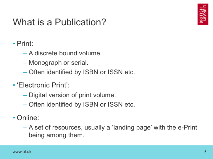 What is a Publication?