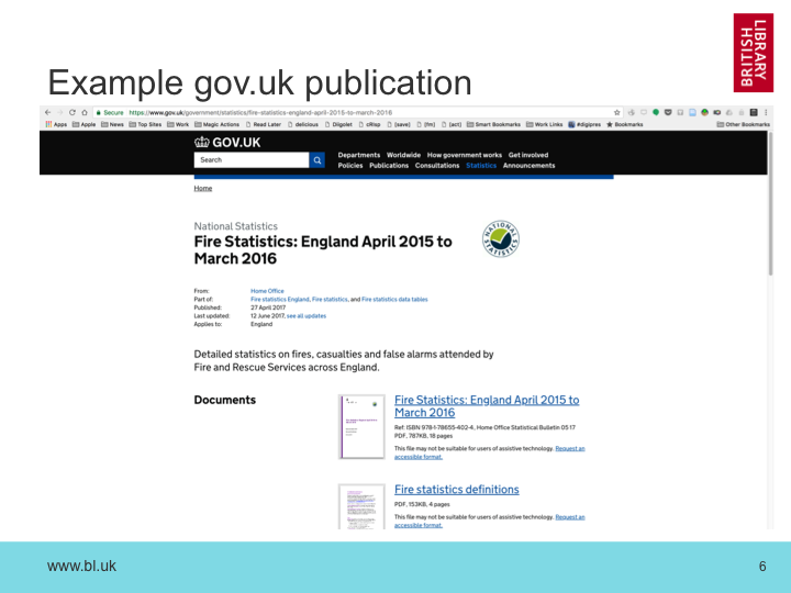 Example gov.uk publication
