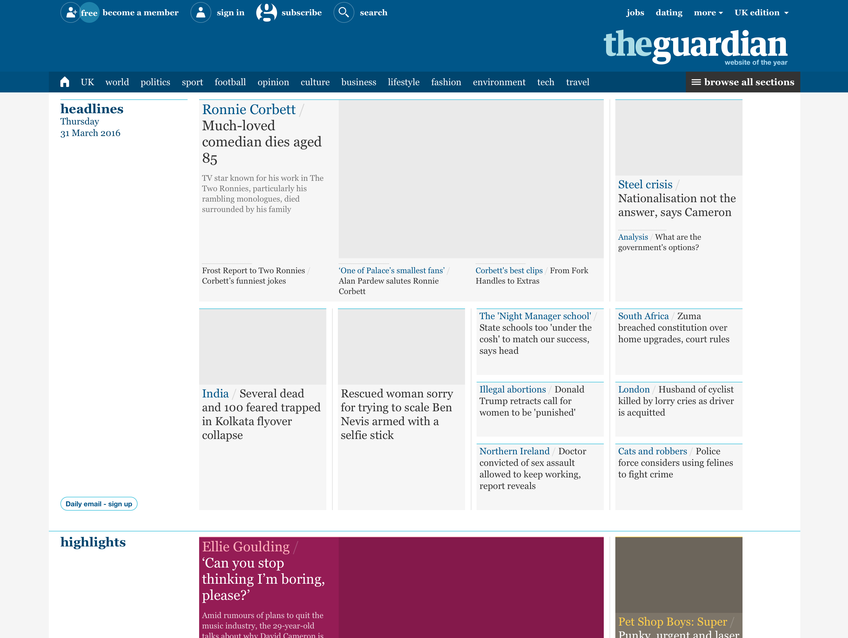 The Guardian on 31th March 2015